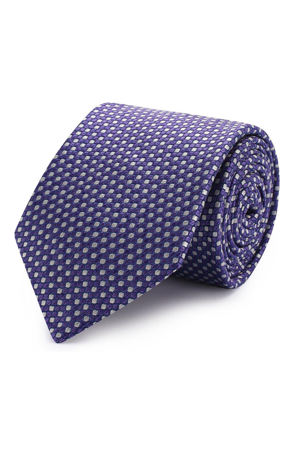 Мужской шелковый галстук ETON фиолетового цвета, арт. A000 32476   Фото 1