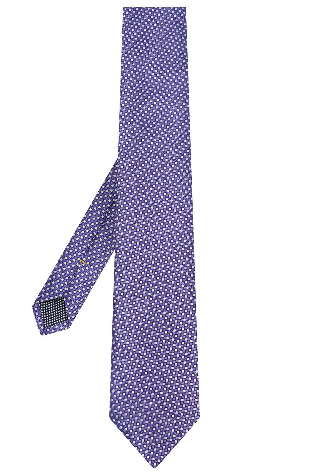 Мужской шелковый галстук ETON фиолетового цвета, арт. A000 32476   Фото 2