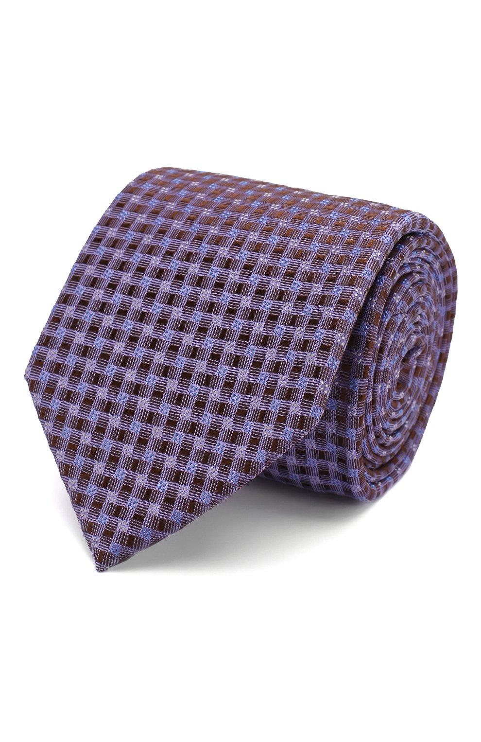 Мужской шелковый галстук ETON сиреневого цвета, арт. A000 32404 | Фото 1