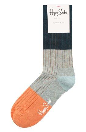 Женские носки block rib sock HAPPY SOCKS разноцветного цвета, арт. BLR01 | Фото 1