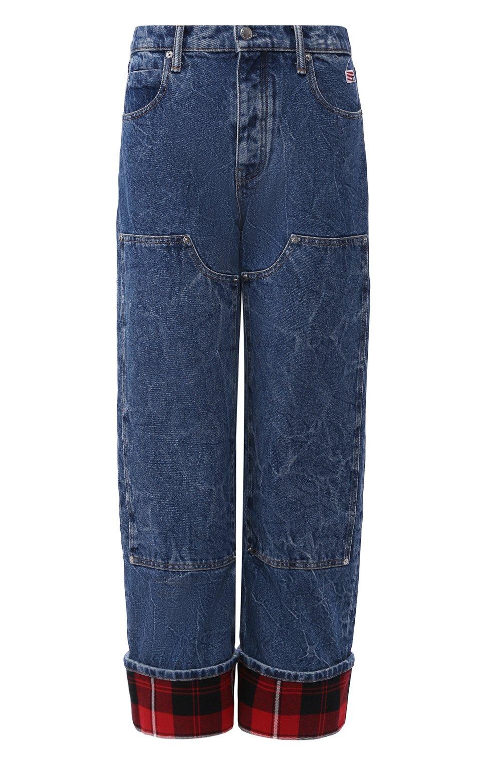 Женские джинсы ALEXANDER WANG синего цвета, арт. 1WC1204272 | Фото 1