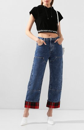Женские джинсы ALEXANDER WANG синего цвета, арт. 1WC1204272 | Фото 2
