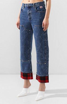 Женские джинсы ALEXANDER WANG синего цвета, арт. 1WC1204272 | Фото 3