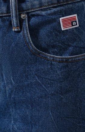 Женские джинсы ALEXANDER WANG синего цвета, арт. 1WC1204272 | Фото 5
