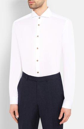 Мужская хлопковая сорочка ETON белого цвета, арт. 1000 01392   Фото 3 (Рукава: Длинные; Длина (для топов): Стандартные; Материал внешний: Хлопок; Случай: Формальный)