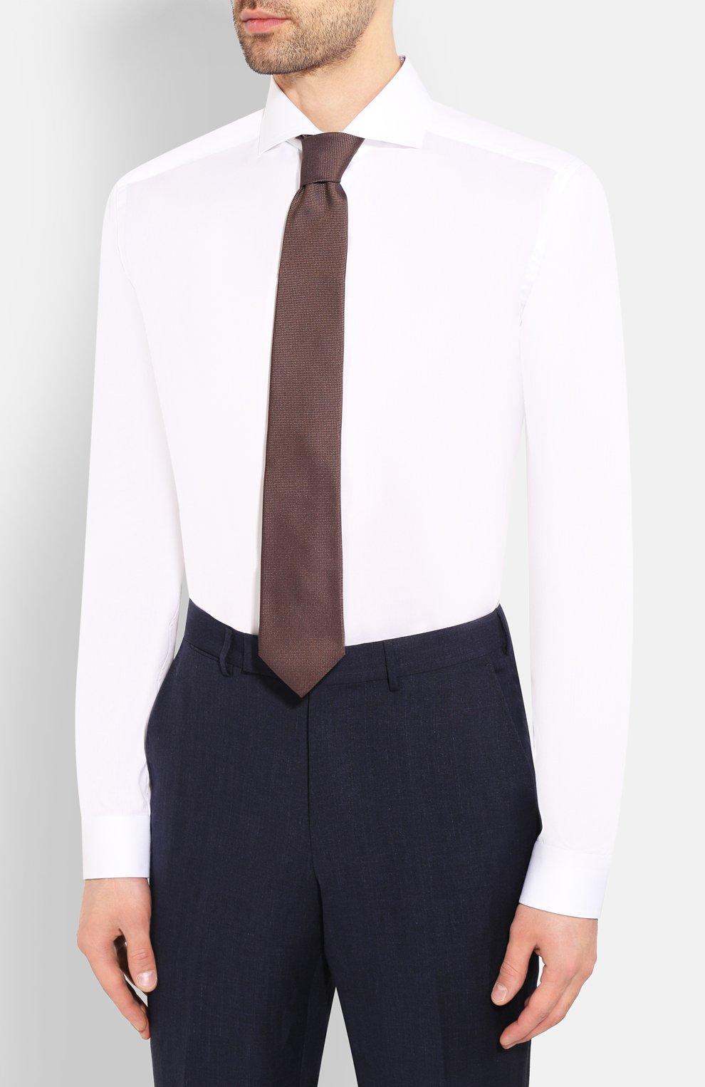 Мужская хлопковая сорочка ETON белого цвета, арт. 1000 01392   Фото 4 (Рукава: Длинные; Длина (для топов): Стандартные; Материал внешний: Хлопок; Случай: Формальный)