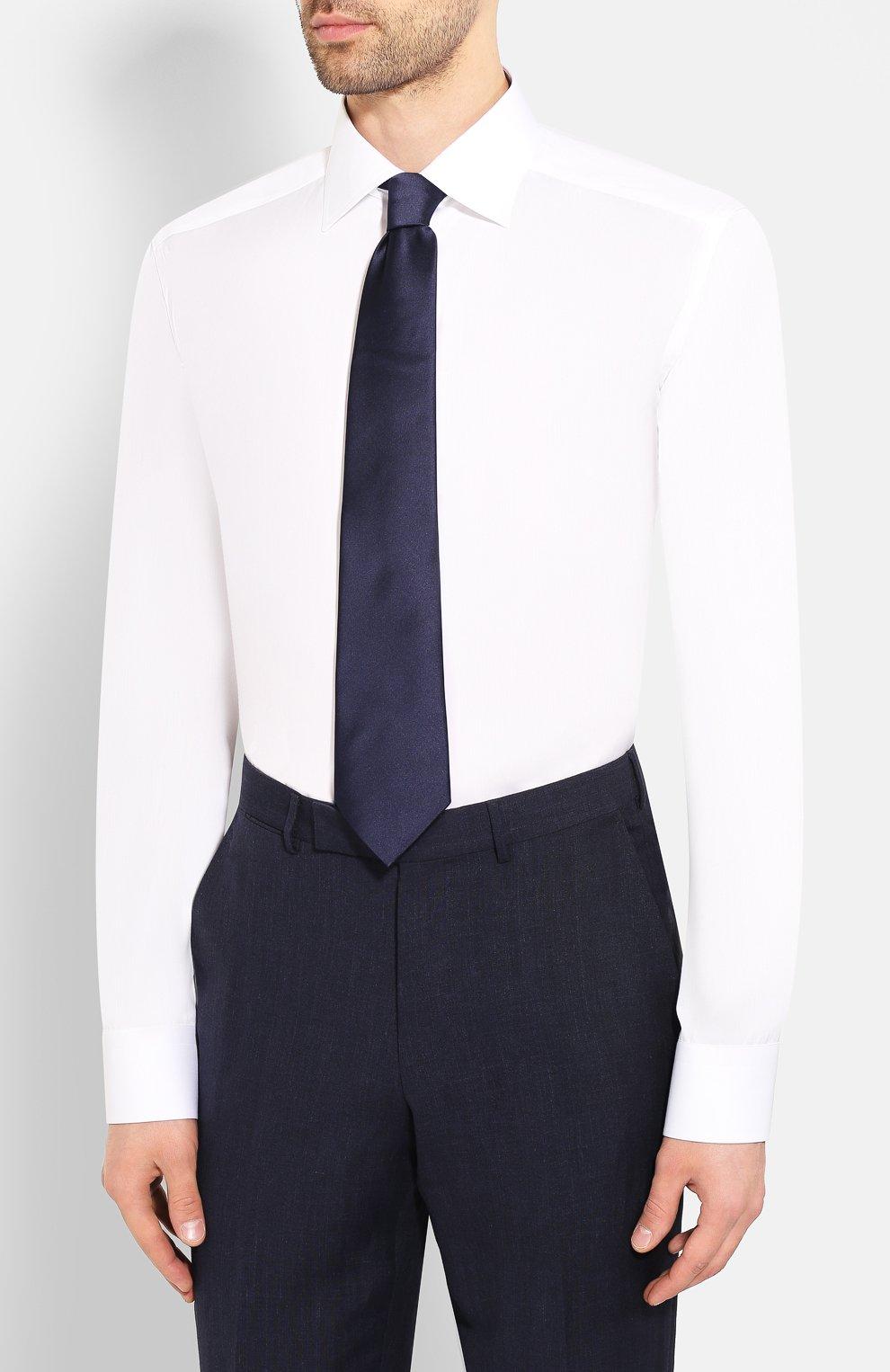 Мужская хлопковая сорочка ETON белого цвета, арт. 1000 01385 | Фото 4