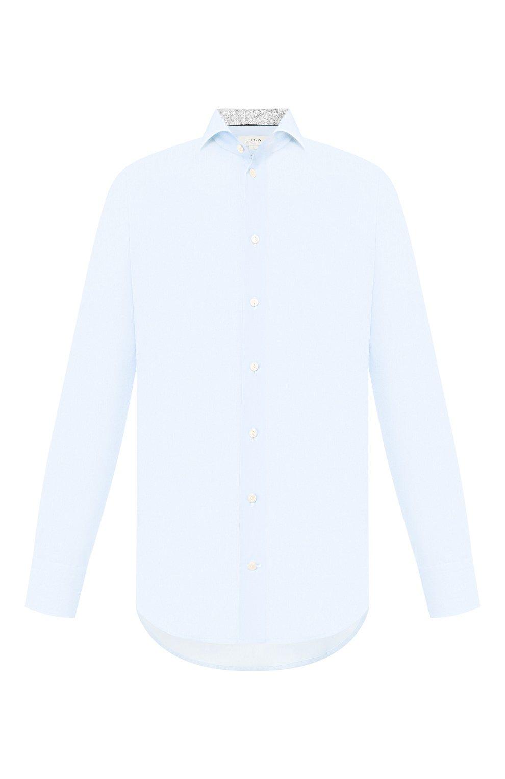 Мужская хлопковая сорочка ETON голубого цвета, арт. 1000 01385   Фото 1