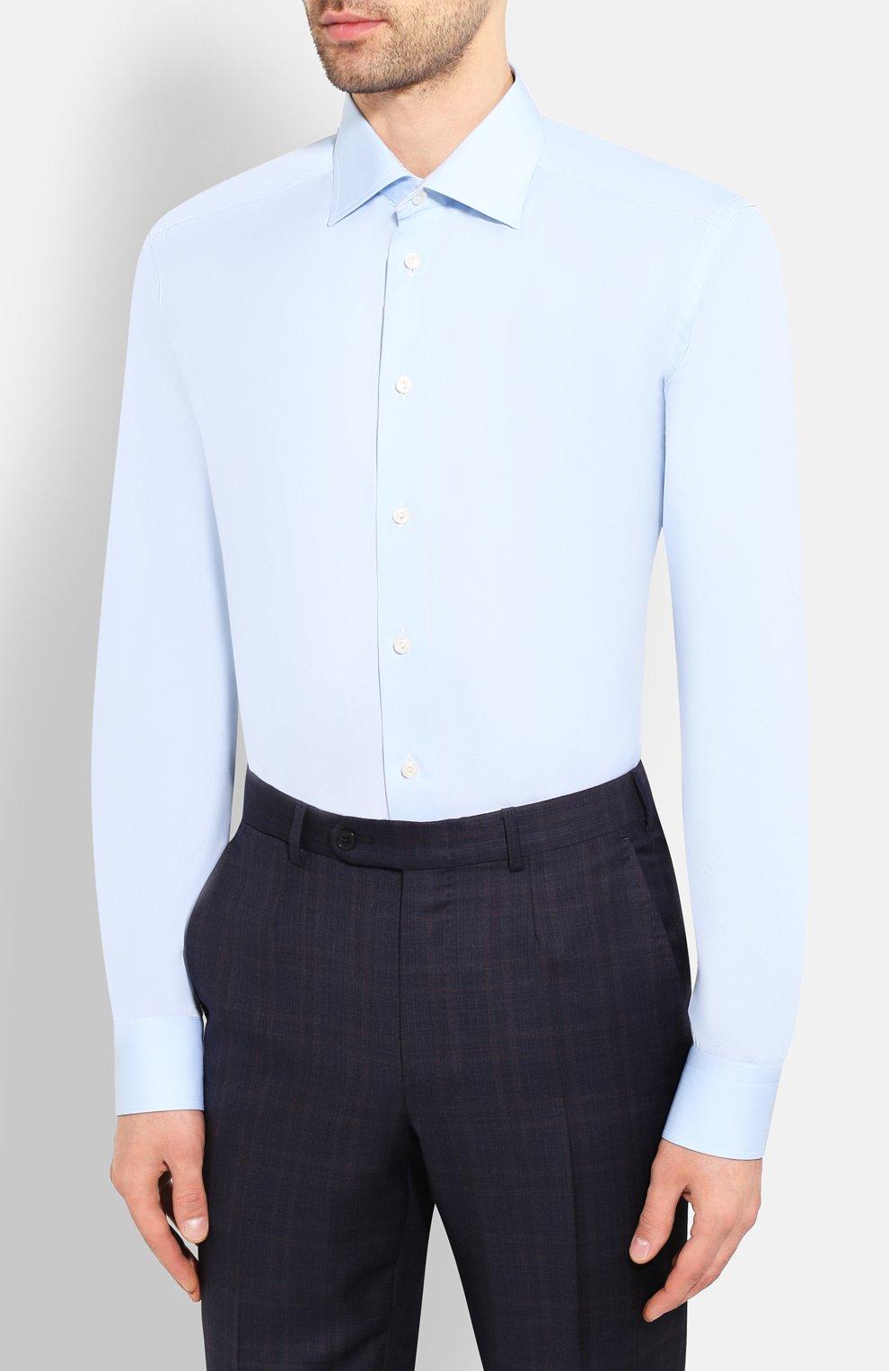 Мужская хлопковая сорочка ETON голубого цвета, арт. 1000 01385   Фото 3