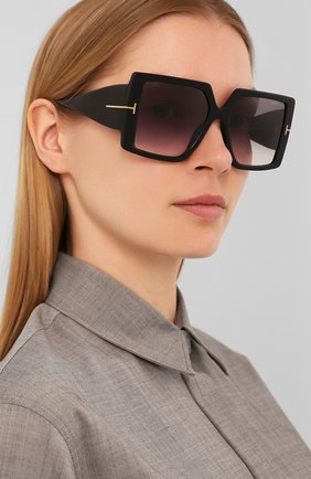 Мужские солнцезащитные очки TOM FORD черного цвета, арт. TF790 01B | Фото 2