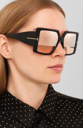 Мужские солнцезащитные очки TOM FORD черного цвета, арт. TF790 01Z | Фото 2