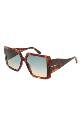 Женские солнцезащитные очки TOM FORD коричневого цвета, арт. TF790 53P   Фото 1