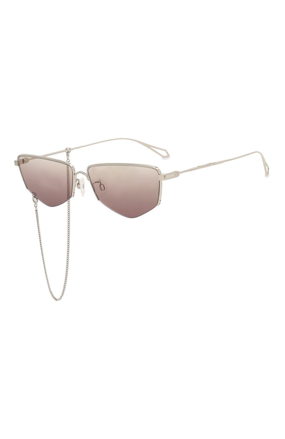 Женские солнцезащитные очки MCQ SWALLOW серебряного цвета, арт. MQ0271SA 002 | Фото 1 (Тип очков: С/з; Оптика Гендер: оптика-женское; Очки форма: Прямоугольные)