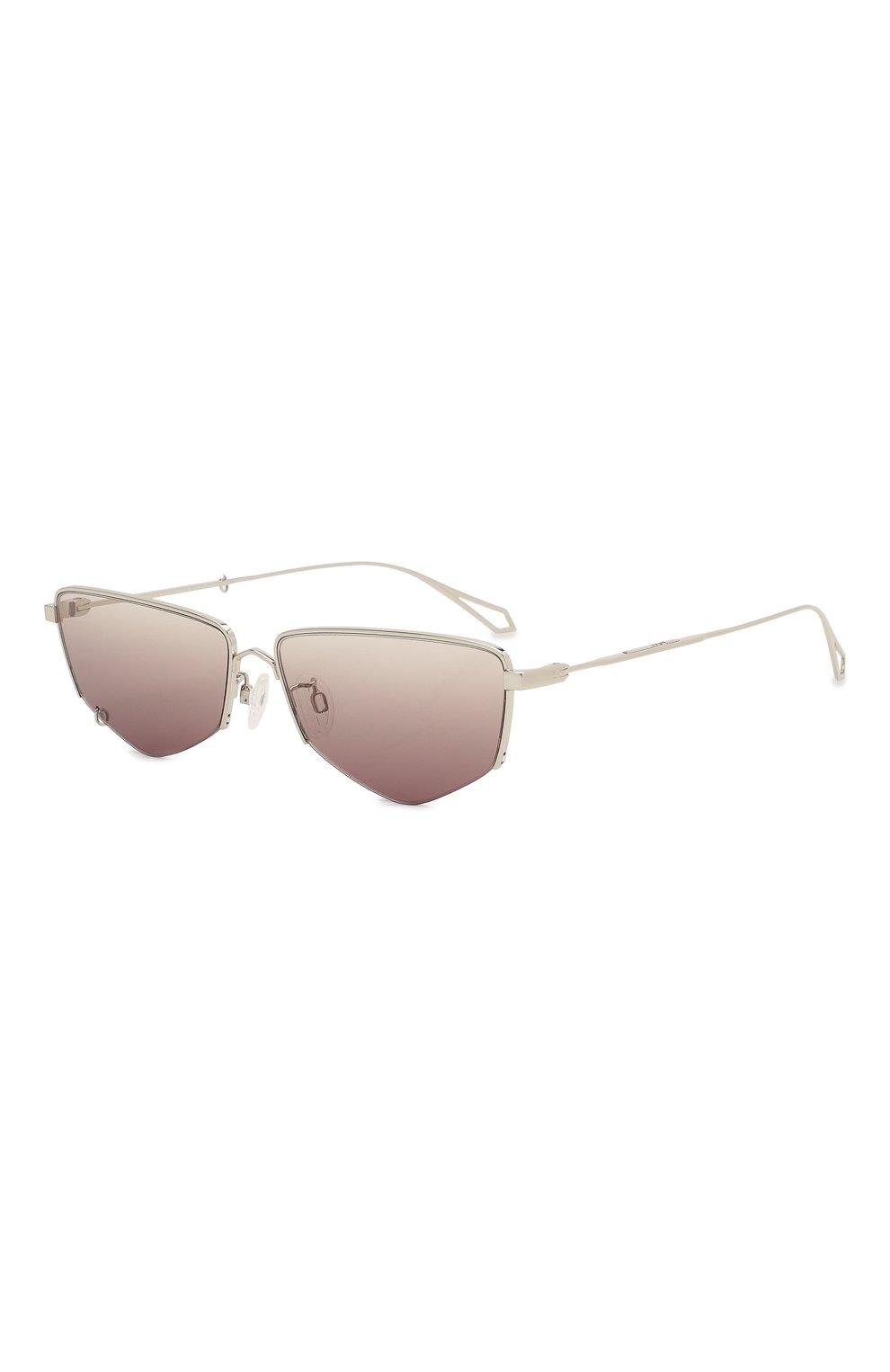 Женские солнцезащитные очки MCQ SWALLOW серебряного цвета, арт. MQ0271SA 002 | Фото 3 (Тип очков: С/з; Оптика Гендер: оптика-женское; Очки форма: Прямоугольные)