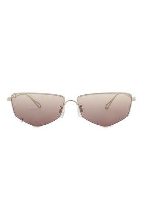 Женские солнцезащитные очки MCQ SWALLOW серебряного цвета, арт. MQ0271SA 002 | Фото 4 (Тип очков: С/з; Оптика Гендер: оптика-женское; Очки форма: Прямоугольные)
