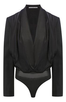 Женское боди ALEXANDER WANG черного цвета, арт. 1WC1207065 | Фото 1