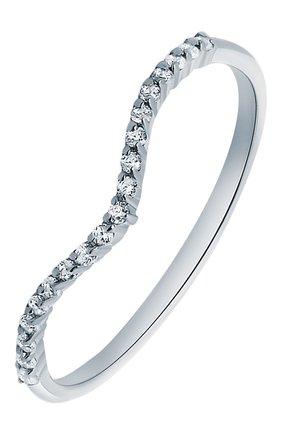Женское кольцо-волна с цирконами MOONKA STUDIO серебряного цвета, арт. tr-wr-r   Фото 1