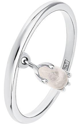 Женское кольцо с лунным камнем и топазами MOONKA STUDIO серебряного цвета, арт. wt-sr-mns   Фото 1