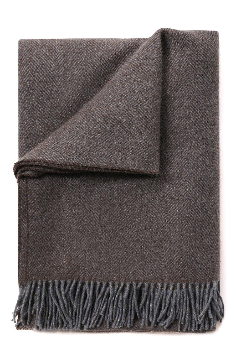 Мужского кашемировый плед LORO PIANA серого цвета, арт. FAI8700 | Фото 1