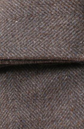 Мужского кашемировый плед LORO PIANA серого цвета, арт. FAI8700 | Фото 2