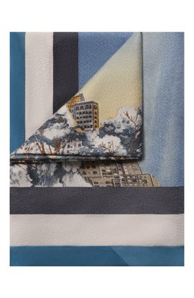 Мужского кашемировый плед LORO PIANA голубого цвета, арт. FAG4749 | Фото 1