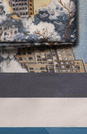 Мужского кашемировый плед LORO PIANA голубого цвета, арт. FAG4749 | Фото 2