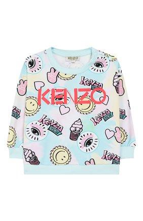 Детский хлопковый свитшот KENZO разноцветного цвета, арт. KQ15027 | Фото 1