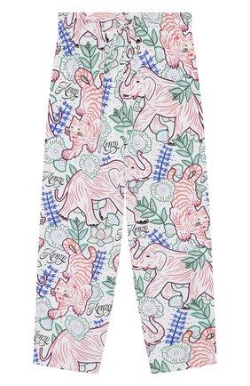 Детские хлопковые брюки KENZO разноцветного цвета, арт. KQ22028   Фото 1