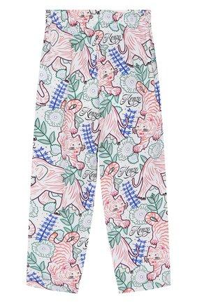 Детские хлопковые брюки KENZO разноцветного цвета, арт. KQ22028   Фото 2