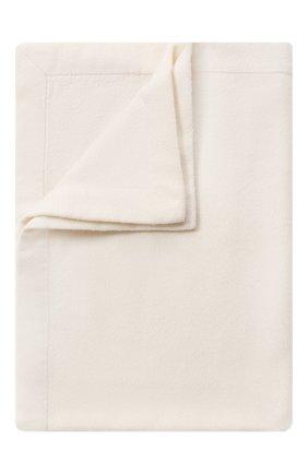 Мужского кашемировый плед LORO PIANA белого цвета, арт. FAA1163 | Фото 1