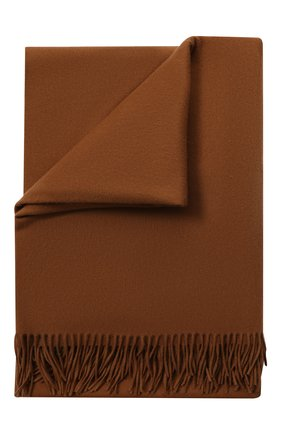 Мужского шерстяной плед LORO PIANA коричневого цвета, арт. FAA1953 | Фото 1