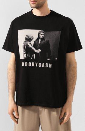Мужская хлопковая футболка 424 черного цвета, арт. 8023.059.0999 | Фото 3