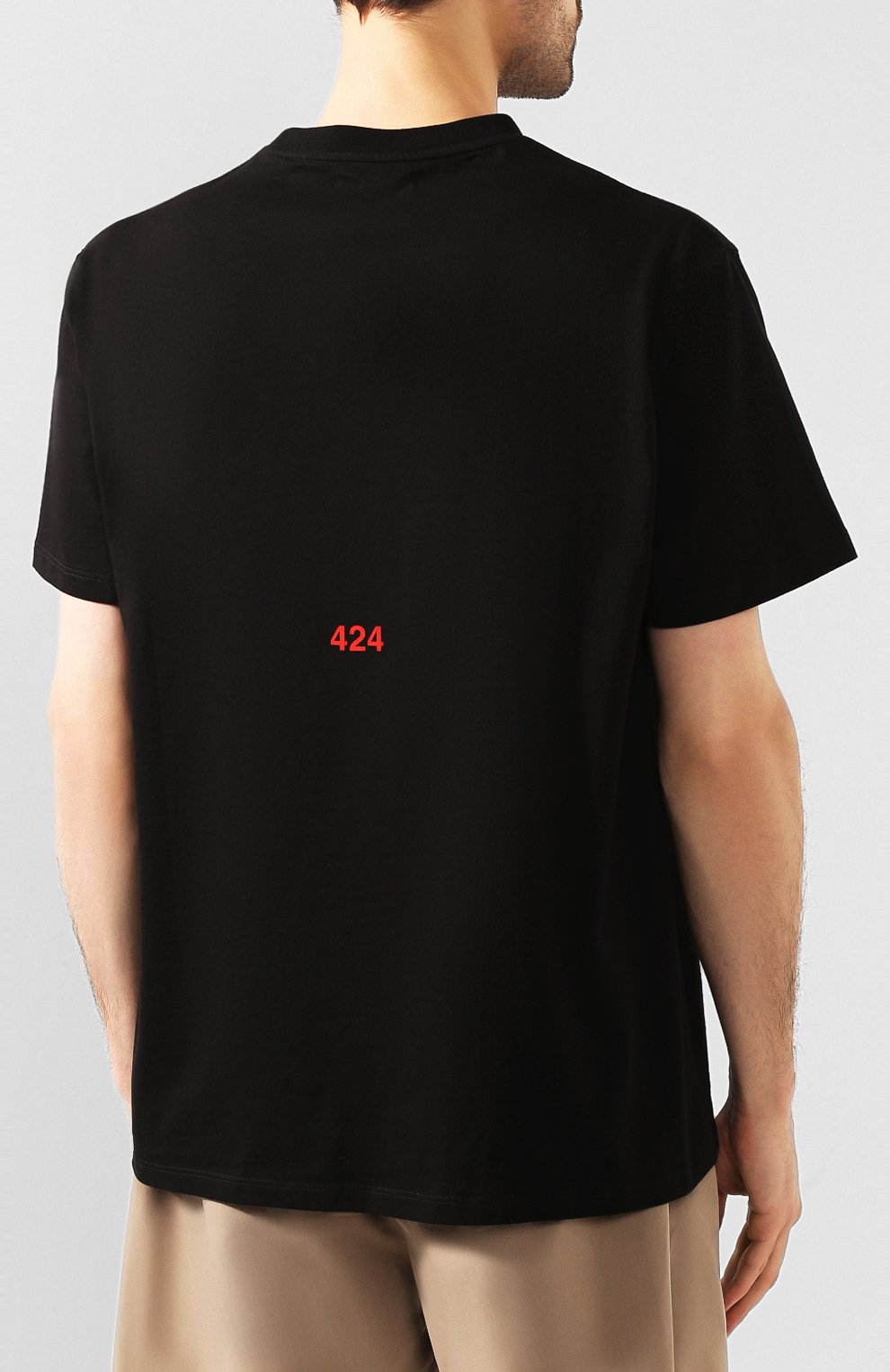 Мужская хлопковая футболка 424 черного цвета, арт. 8023.059.0999 | Фото 4