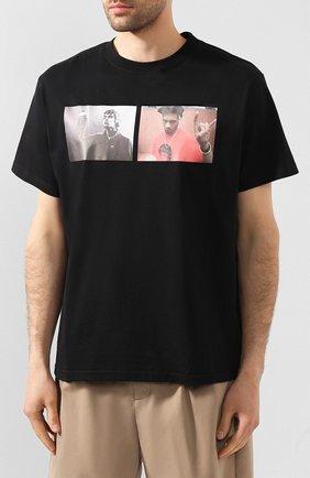Мужская хлопковая футболка 424 черного цвета, арт. 8022.059.0999 | Фото 3