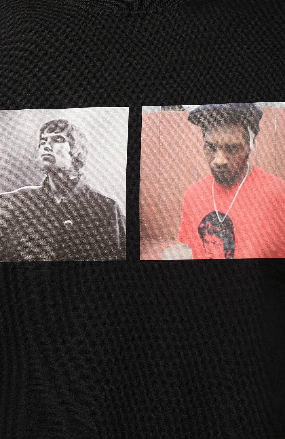 Мужская хлопковая футболка 424 черного цвета, арт. 8022.059.0999 | Фото 5