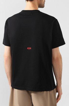 Мужская хлопковая футболка 424 черного цвета, арт. 8020.059.0999 | Фото 4