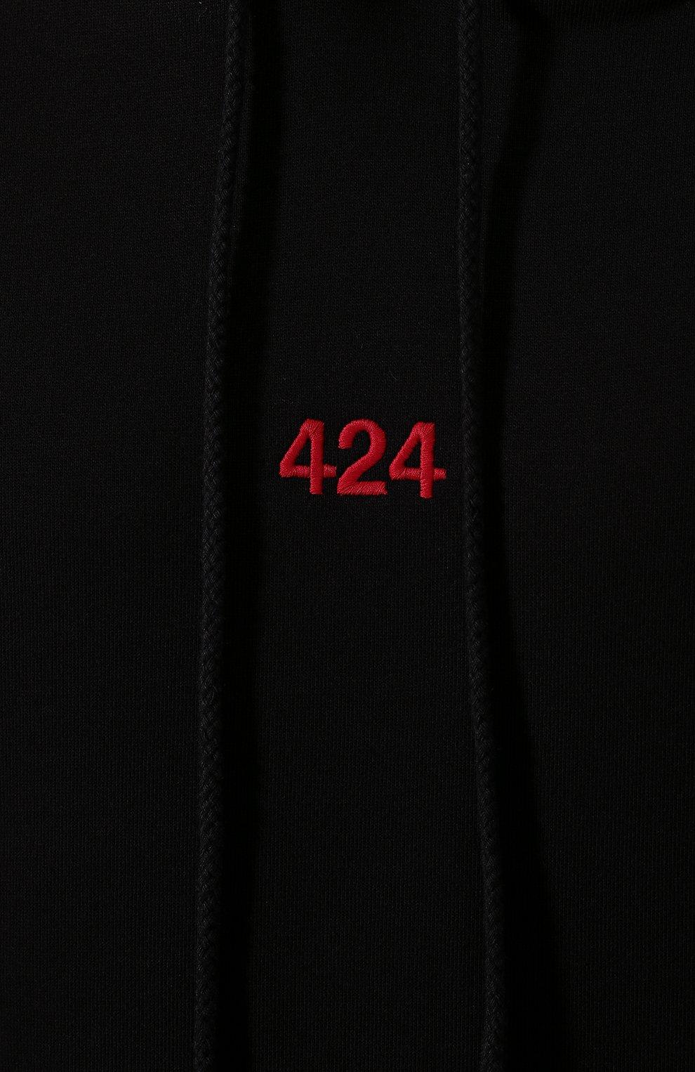Мужской хлопковое худи 424 черного цвета, арт. 8008.115.0999   Фото 5