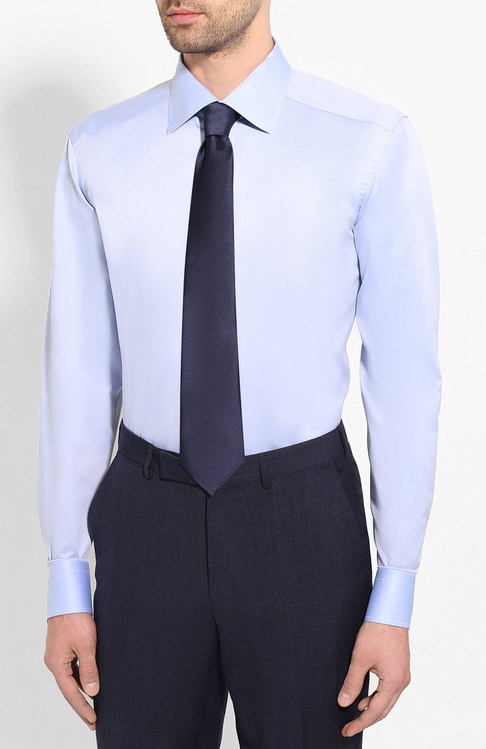 Мужская хлопковая сорочка ETON голубого цвета, арт. 1000 01567 | Фото 4