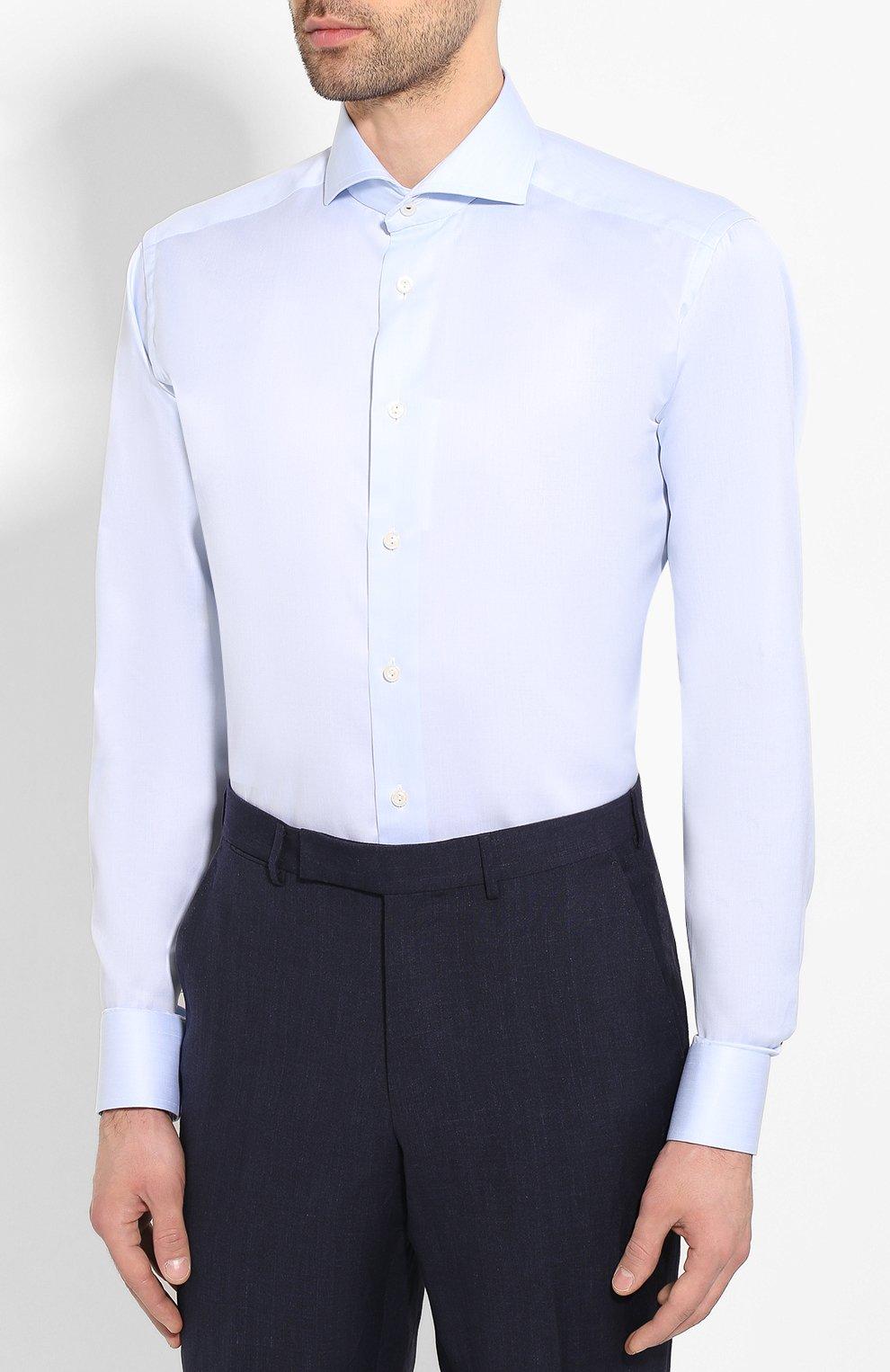 Мужская хлопковая сорочка ETON голубого цвета, арт. 1000 01415 | Фото 3