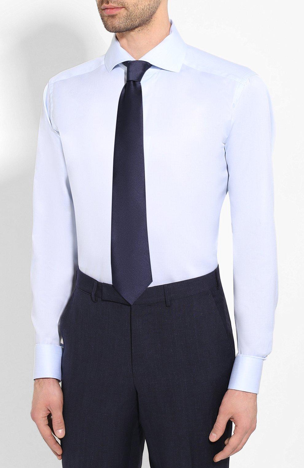 Мужская хлопковая сорочка ETON голубого цвета, арт. 1000 01415 | Фото 4