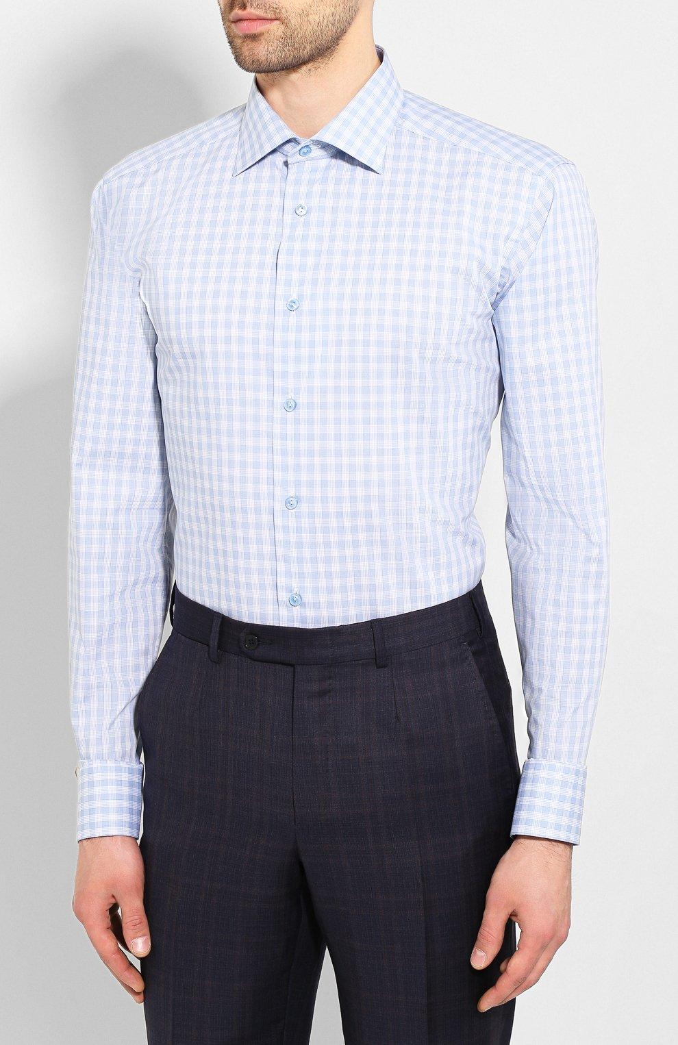 Мужская хлопковая сорочка ETON голубого цвета, арт. 1000 01375 | Фото 3