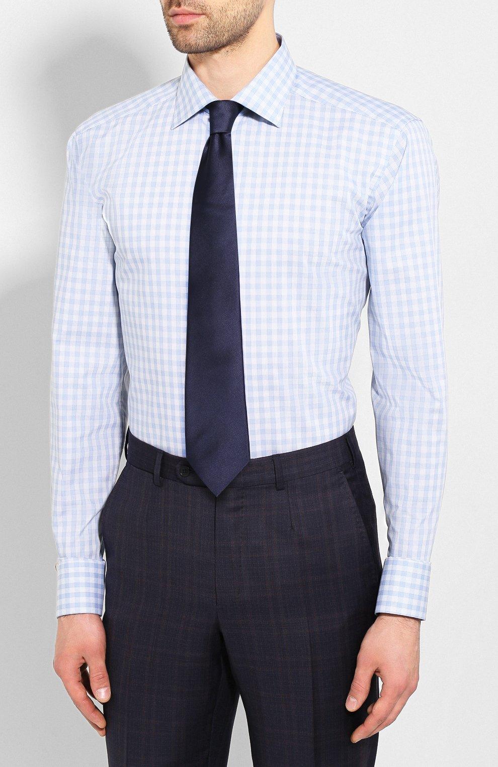 Мужская хлопковая сорочка ETON голубого цвета, арт. 1000 01375 | Фото 4