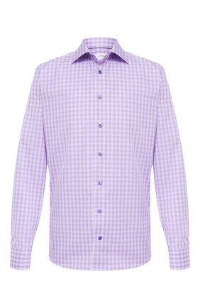 Мужская хлопковая сорочка ETON сиреневого цвета, арт. 1000 01375 | Фото 1
