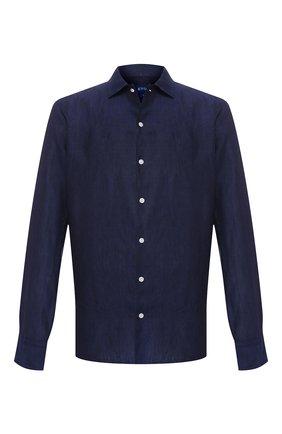 Мужская льняная рубашка ETON темно-синего цвета, арт. 1000 01340 | Фото 1