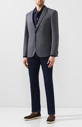 Мужская льняная рубашка ETON темно-синего цвета, арт. 1000 01340 | Фото 2