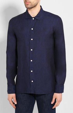 Мужская льняная рубашка ETON темно-синего цвета, арт. 1000 01340 | Фото 3