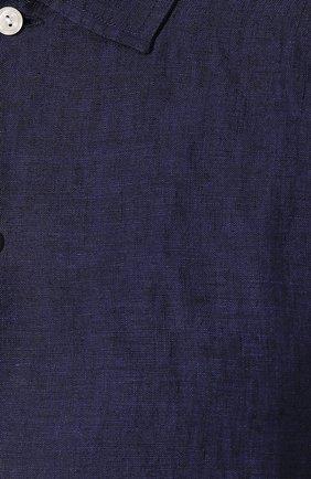 Мужская льняная рубашка ETON темно-синего цвета, арт. 1000 01340 | Фото 5