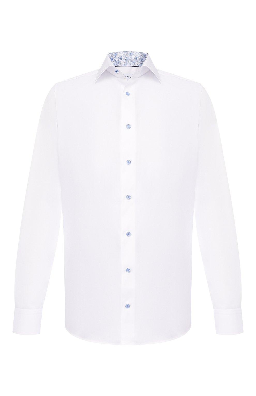 Мужская хлопковая сорочка ETON белого цвета, арт. 1000 01178 | Фото 1