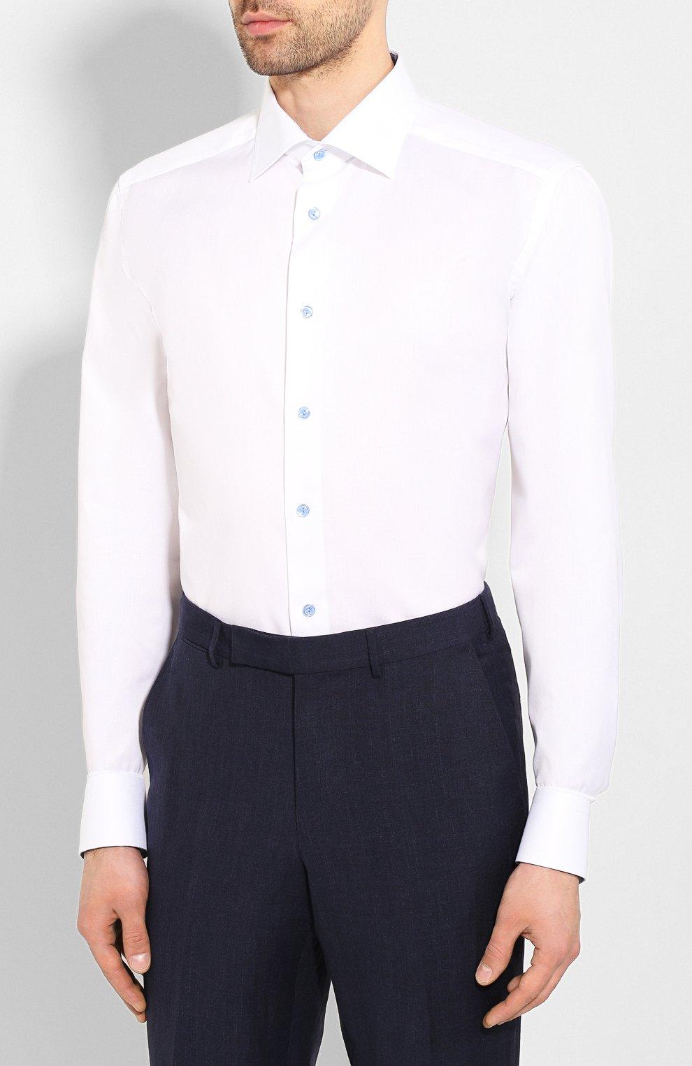 Мужская хлопковая сорочка ETON белого цвета, арт. 1000 01178 | Фото 3