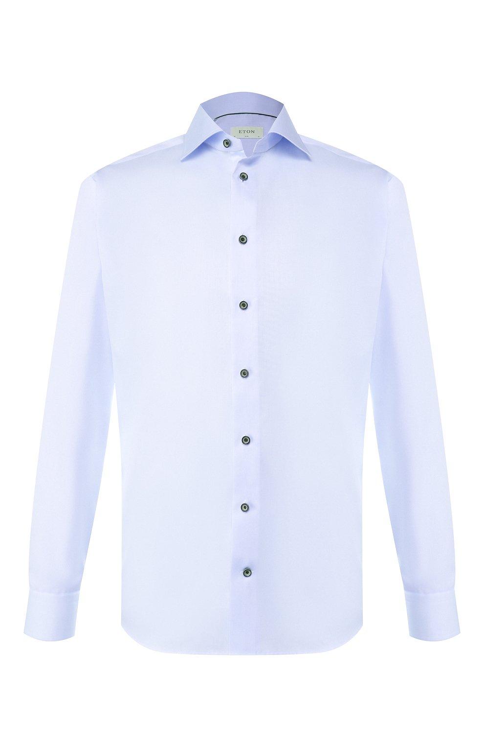 Мужская хлопковая сорочка ETON голубого цвета, арт. 1000 01175   Фото 1